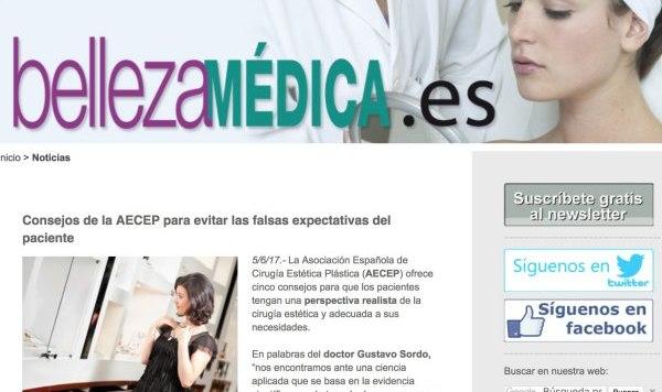 El Dr. Sordo habla para BellezaMedica.es sobre la cirugía estética