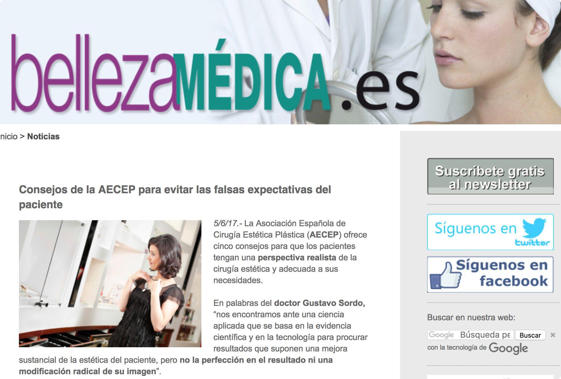 Dr.Sordo habla para BellezaMedica.es