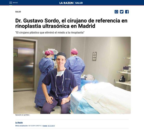 Dr. Sordo pionero rinoplastia ultrasónica en España